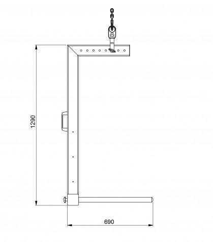 HRH-K - kranbasierter Rollenheber, Zeichnung 2