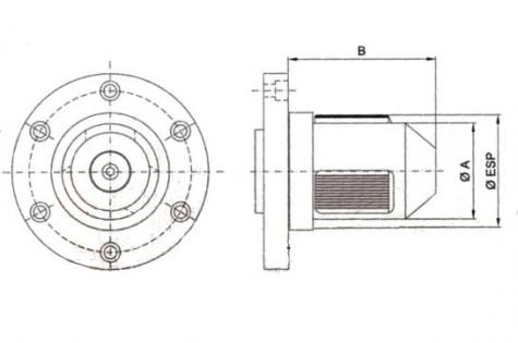 Mechanischer Spannkopf SKM-DHA, technische Daten